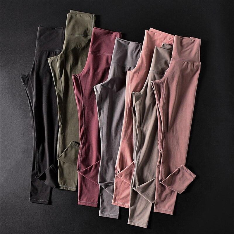 Мягкие леггинсы для фитнеса с высокой талией, женские леггинсы с пуш-ап, облегающие штаны для бега, впитывающие пот и влагу, штаны для заняти...