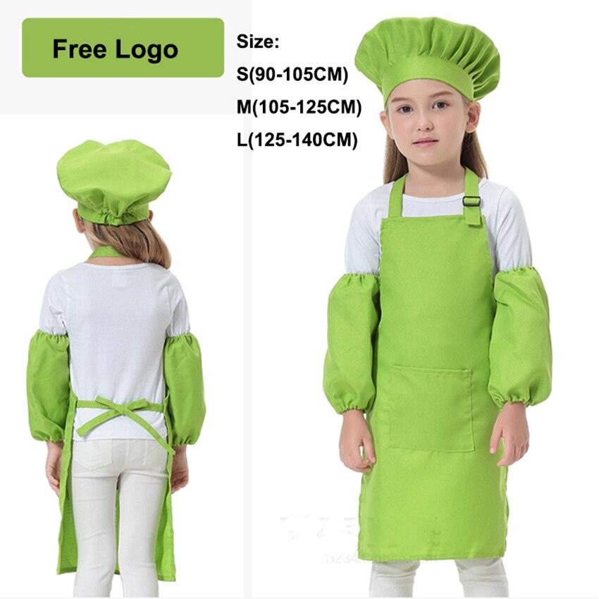 Disfraz de cocinero de Carnaval con Logo de 12 colores gratis, disfraz de cocinero de Halloween para niños, delantal DIY, ropa de jardín de niños y niñas