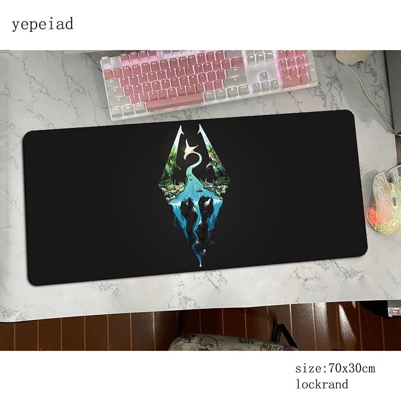 Tapete do Rato Descanso de Pulso Skyrim Mousepad Kawaii Computador Gamer Gamepad pc Gaming Mousemat Mesa Almofada Escritório Padmouse 90x40cm