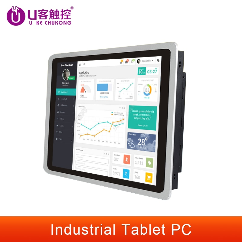 10.12.15.17.19Inch Industrial Tablet pc all-in-one pc With Capacitive Touch Screen  for Windows /Linux / j1900 /Intel 1280*1024