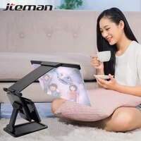 12 inch mobile phone screen amplifier desktop holder for iphone samsung smartphone screen magnifier 3d hd movie eyes protection