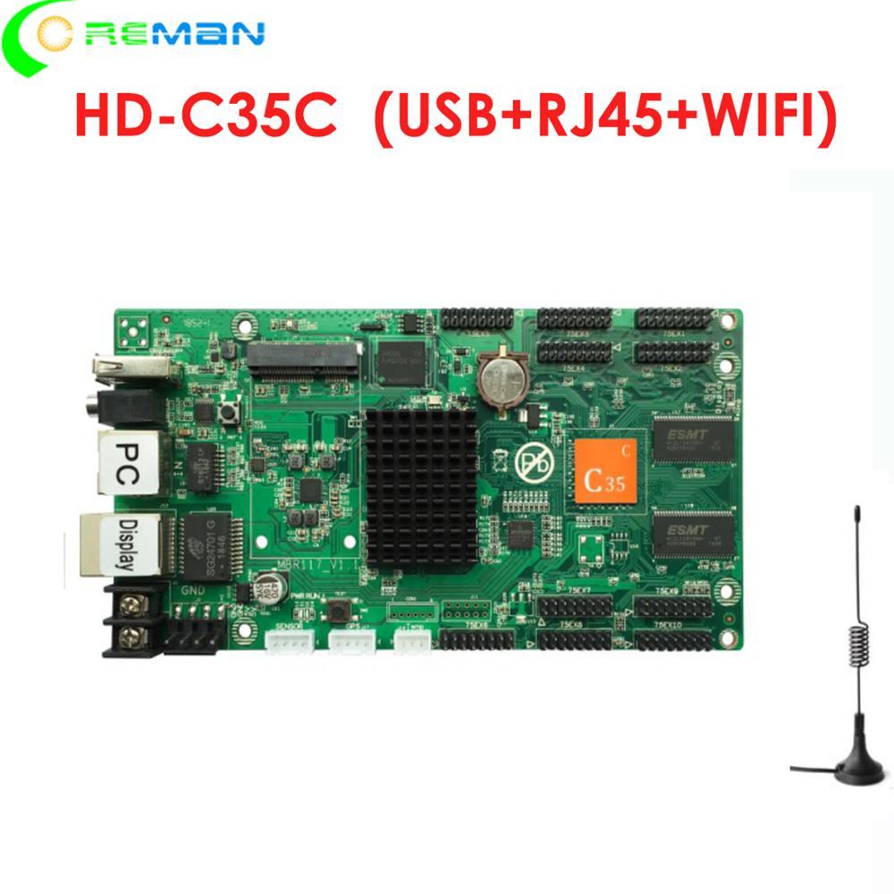 HD C35C a todo color led módulo led pantalla de mando para letrero led WIFI USB RJ45 led tarjeta de control para p2 p3 p4 p5 p6 p8 p10 p3.91