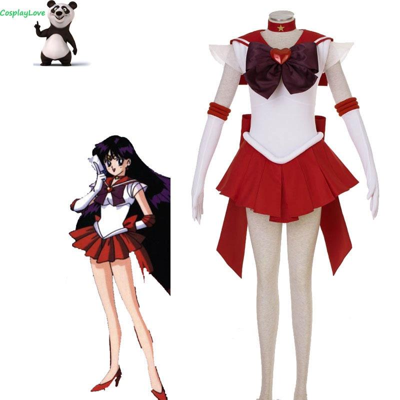 CosplayLove Sailor Moon Rei Hino 3TH Sailor Mars Cosplay Costumes Dress Shoes Anime Cosplay Stock For Halloween Christmas