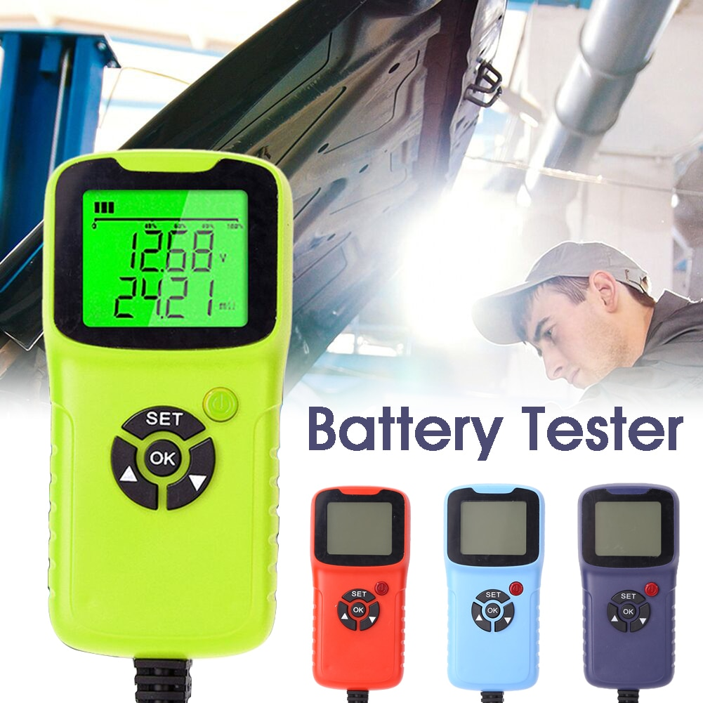 all sun high performance digital automotive 12v cca battery tester for cold temperature battery load charging voltage starter 12V Car Battery Tester Analyzer 100-1700 CCA Auto Battery Load Tester Analyzer
