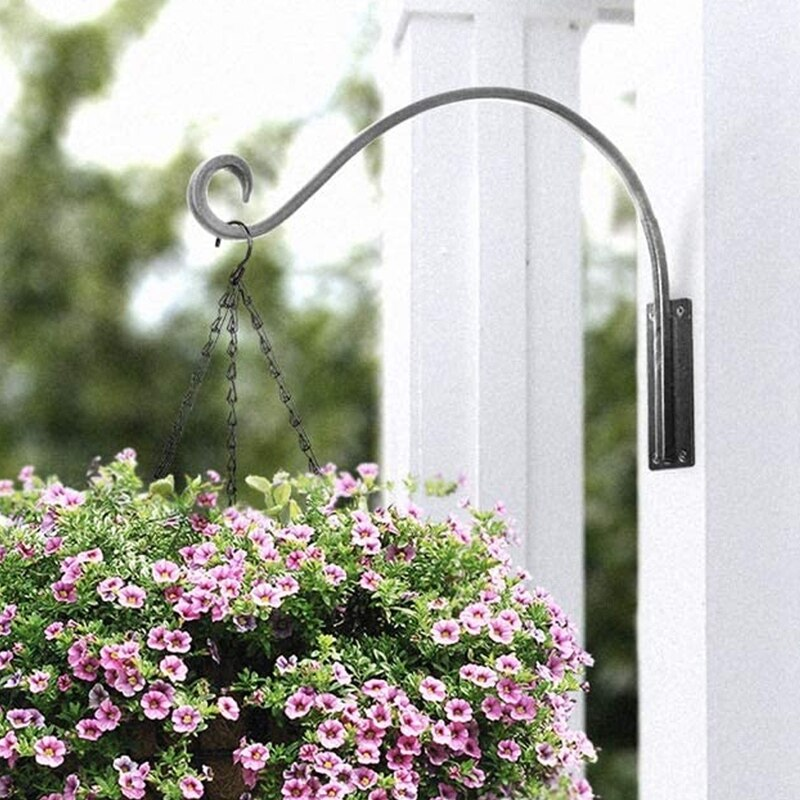 Plant Hanger Bracket Heavy Duty Plant Hooks (16 Inch) Durable and Stable Outdoor Plant Hanger, Hanging Plant Bracket