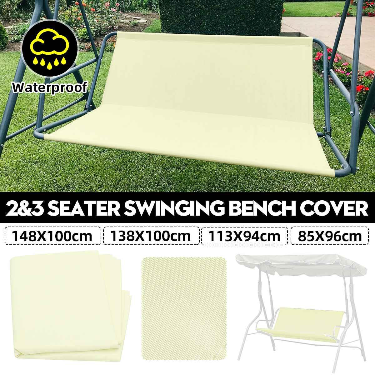 2/3 Seat Waterproof Swing Cover Chair Bench Replacement Patio Garden Outdoor Waterproof UV Resistant Swing Seat Furniture Cover