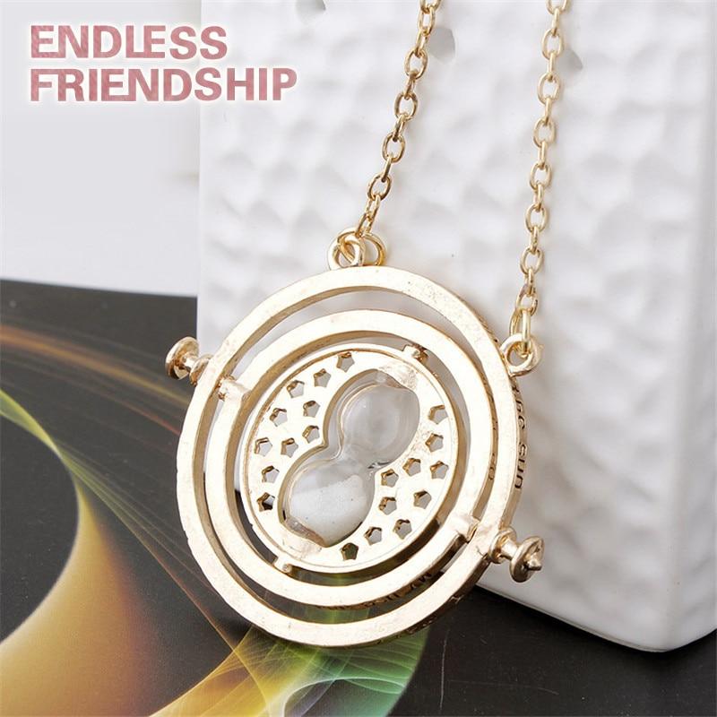 Vintage rotatif Fine temps tourneur collier convertisseur de temps temps pendentif collier pour femme homme accessoires