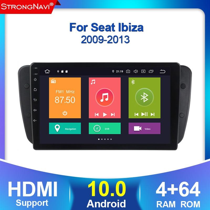 4 + 64G Android 10,0 Car DVD Radio para asiento Ibiza 6j 2009, 2010, 2012, 2013 navegación GPS 2 Din pantalla radio Audio reproductor Multimedia