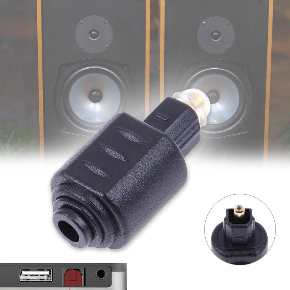 Macho ótico de toslink ao conector fêmea do adaptador de áudio do toslink de mini 3.5mm