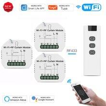 Tuya Smart Leben Vorhang Schalter Modul Fernbedienung Blind Rollladen RF + WIFI App Timer Google Home Aelxa Echo smart Home