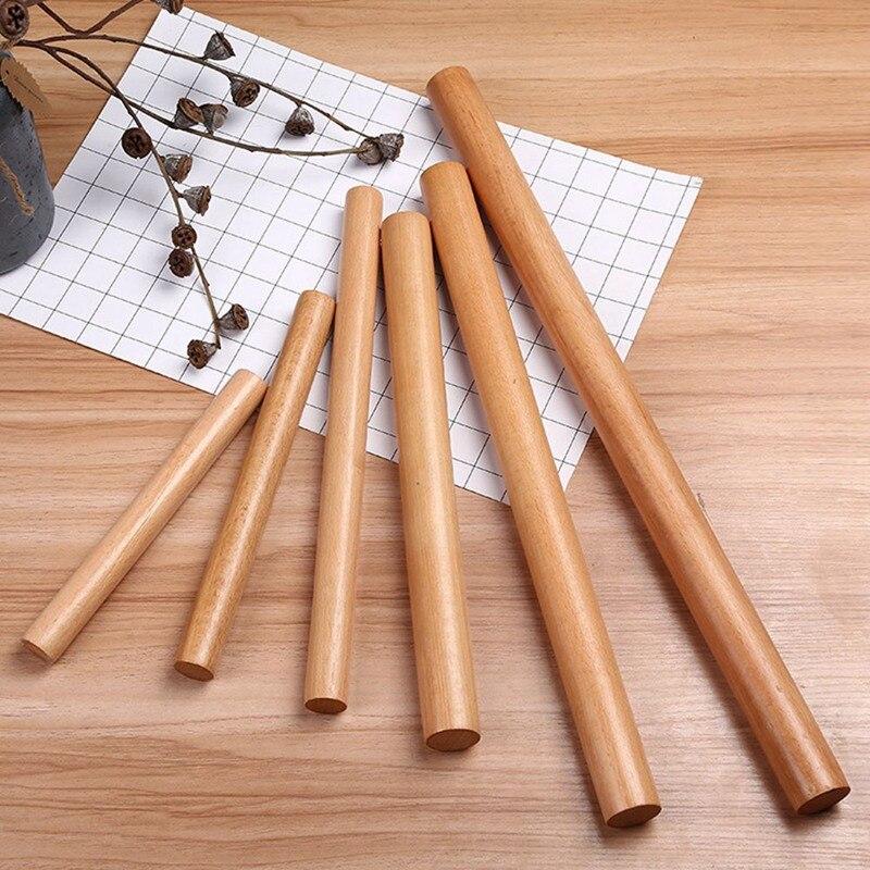 Rodillo de cocina 16/25/30/40cm Pin de Rooling de madera antiadherente para DIY decoración de tarta Fondant Noodles masa rodillo herramientas de cocina
