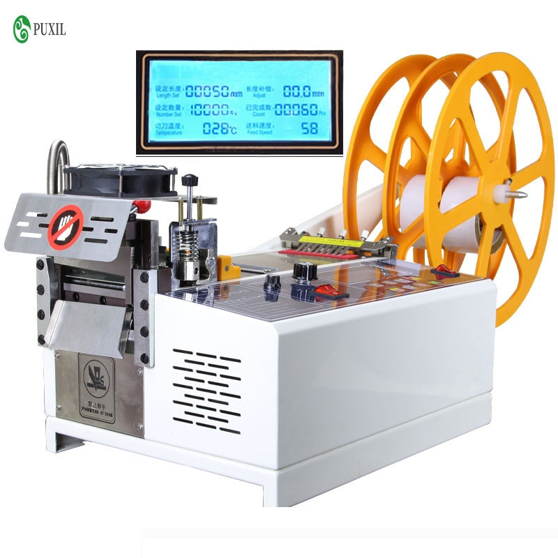 988 t máquina de corte de fita automática por computador máquina de corte de fita elástica quente e fria 110 v/220 v 400 w