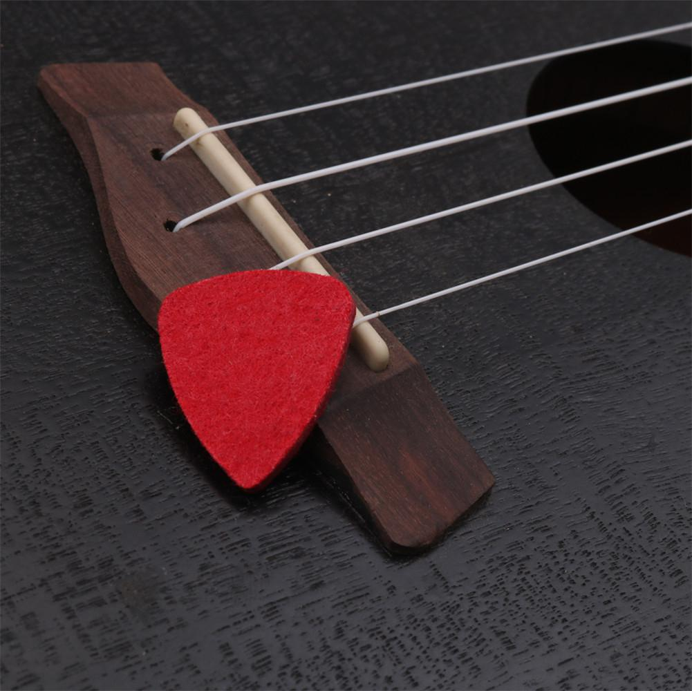 1 uds, púas coloridas de lana para ukelele, picos de fieltro de lana, púa para dedo, púa para Guitarra de cuero, púas para ukelele, accesorios para Guitarra Banjor
