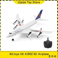 wltoys xk a150c rc airplane 2 4ghz 2 channel 6 axis gyro boeing 747 rc plane glider throwing wingspan foam planes fixed wing rtf