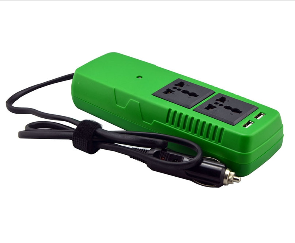 150W DC إلى AC سيارة السلطة تعديل شرط موجة العاكس لأجهزة الكمبيوتر المحمولة ، Huwei ، فون moiles