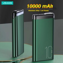 USAMS Powerbank 10000mah Mini batterie Powerbank pour Xiaomi Huawei Iphone 12 pro Max 11 8 USB Type C batterie externe batterie