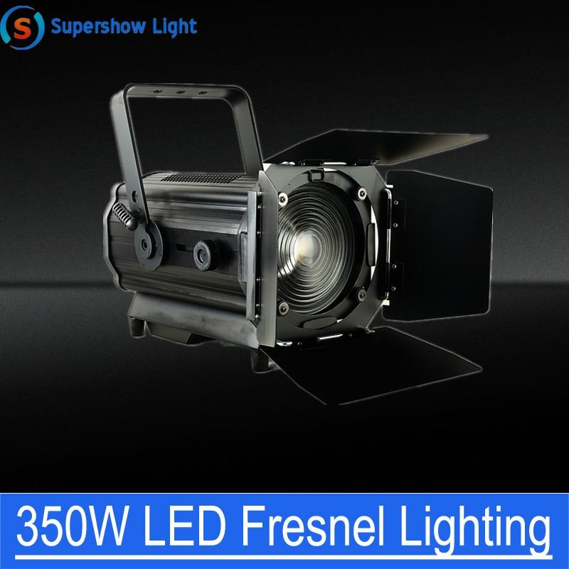 Светодиодный видео светильник с линзой Френеля с регулируемой яркостью 350W RGBW 4in1 Светодиодный прожектор с линзой Френеля светильник фотогр...