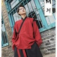 return to han tang nachuan improved hanfu mens han elements daily promotion of upper underwear wide leg pants belt set