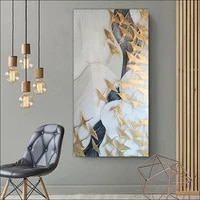 modern abstract animal beautiful line bird canvas painting printing customized drawing diy solid wood framd un framde wall de