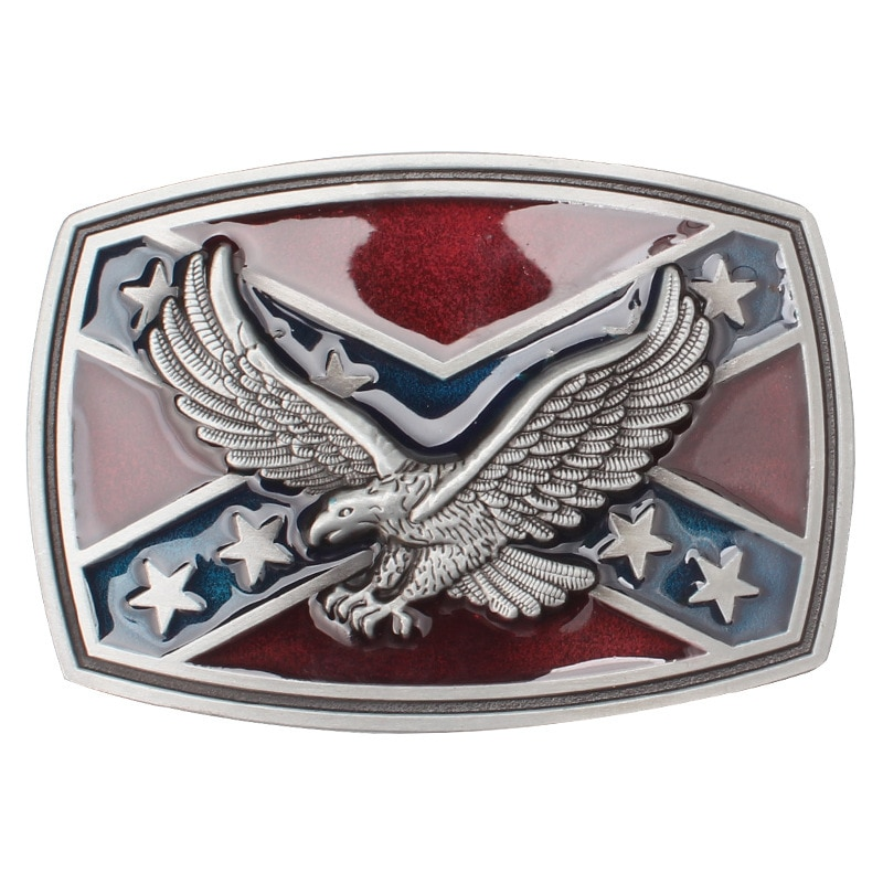 Eagle/Vulture  flag Pattern Belt Buckle Handmade homemade belt accessories waistband DIY Western cowboy rock style k44