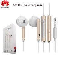 Оригинальные наушники AM116 Huawei Honor 3,5 мм, металлические наушники с микрофоном и регулятором громкости для HUAWEI P7 P8 P9 Lite P10 Plus Honor 5X 6X Mate 7 8