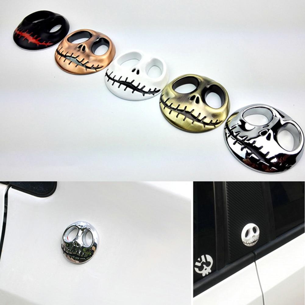 3D украшения на Хэллоуин, автомобильные наклейки, Череп, автомобильные наклейки, металлический значок, самоклеящийся автомобильный Стайлин...