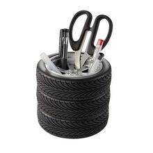 Stylo de maquillage en forme de pneu créatif porte-crayons organisateur de bureau papeterie de bureau