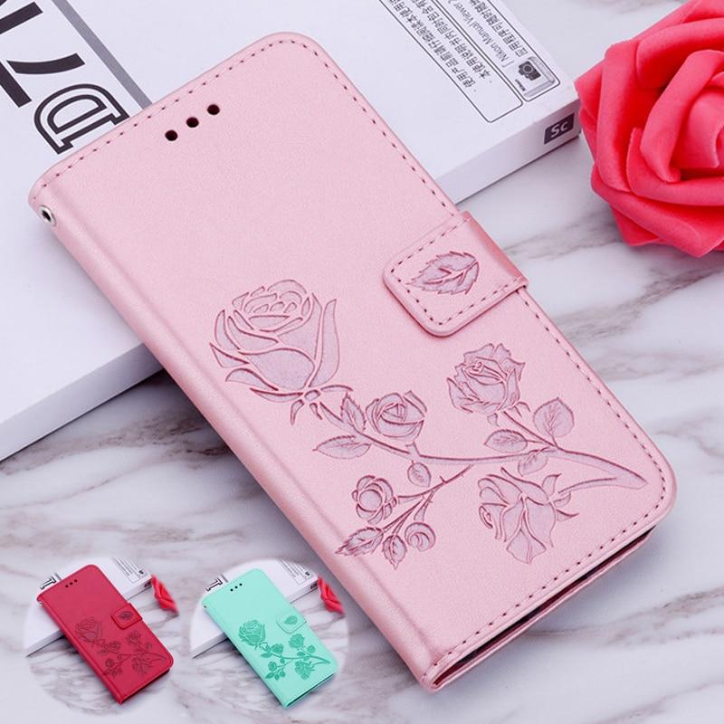 Étui en cuir Rose de luxe pour Huawei Ascend P6 P7 P8 P9 P20 Lite Mini Pro Smart Plus housses de protection G9 Mate 8 Ale-L2 G Play Mini