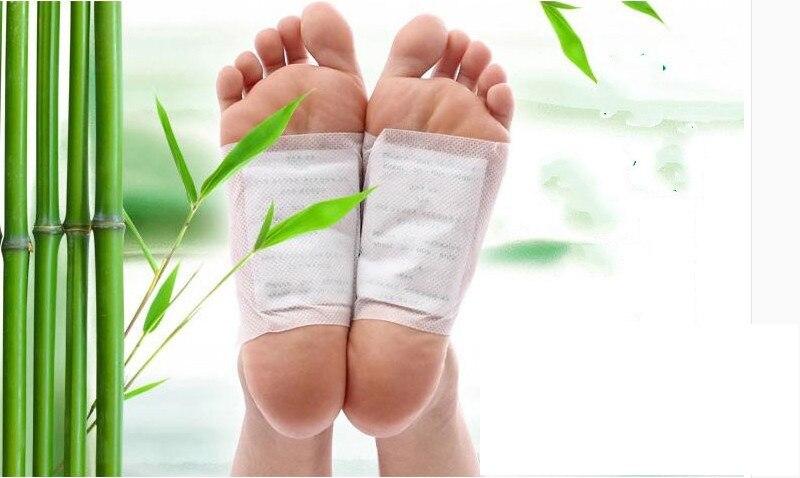 Envío gratis de alta calidad parche de eliminación de toxinas para pies de bambú de parches con adhesiva de 200 Uds = 100 Uds parches + 100 Uds adhesivos