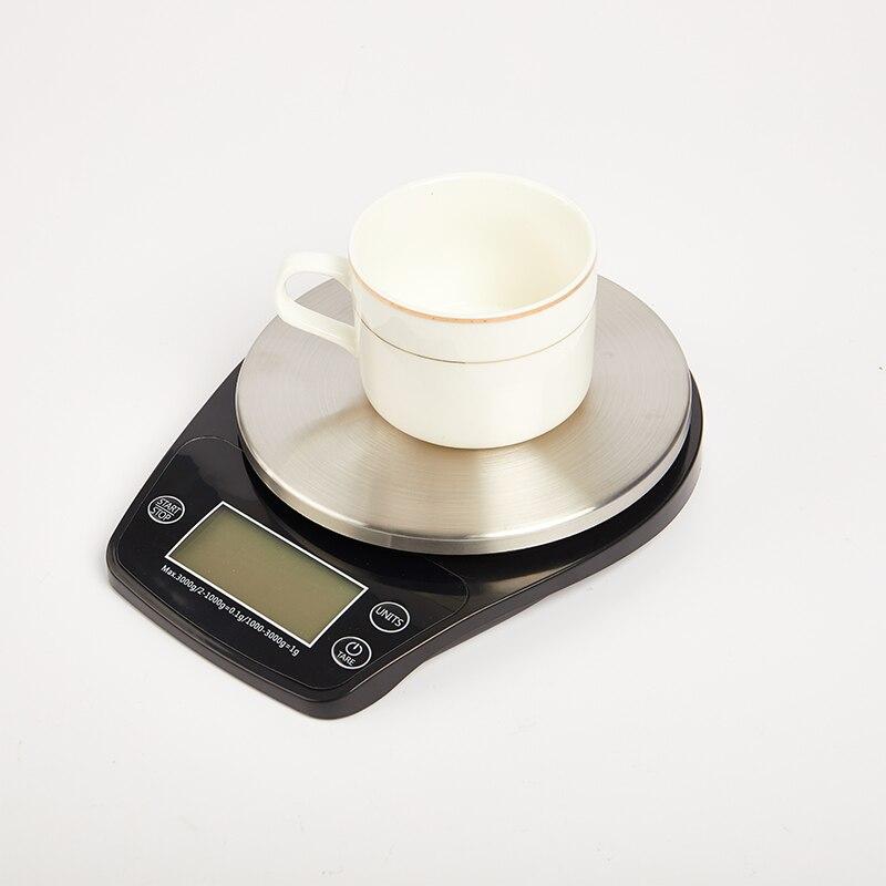 0.5/3 كجم مقياس القهوة الرقمية LED عرض الموقت المطبخ الفولاذ المقاوم للصدأ