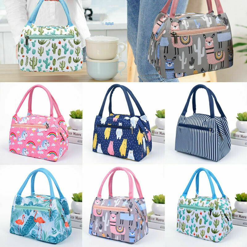 Women Box Tote Adults Portable Bag Waterproof Girls Lunch Picnic Insulated To