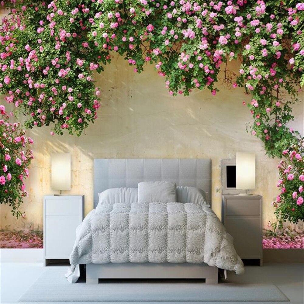 Milofi пользовательские фото 3D стерео рельеф росписи обоев Роза декорация фоновая стена