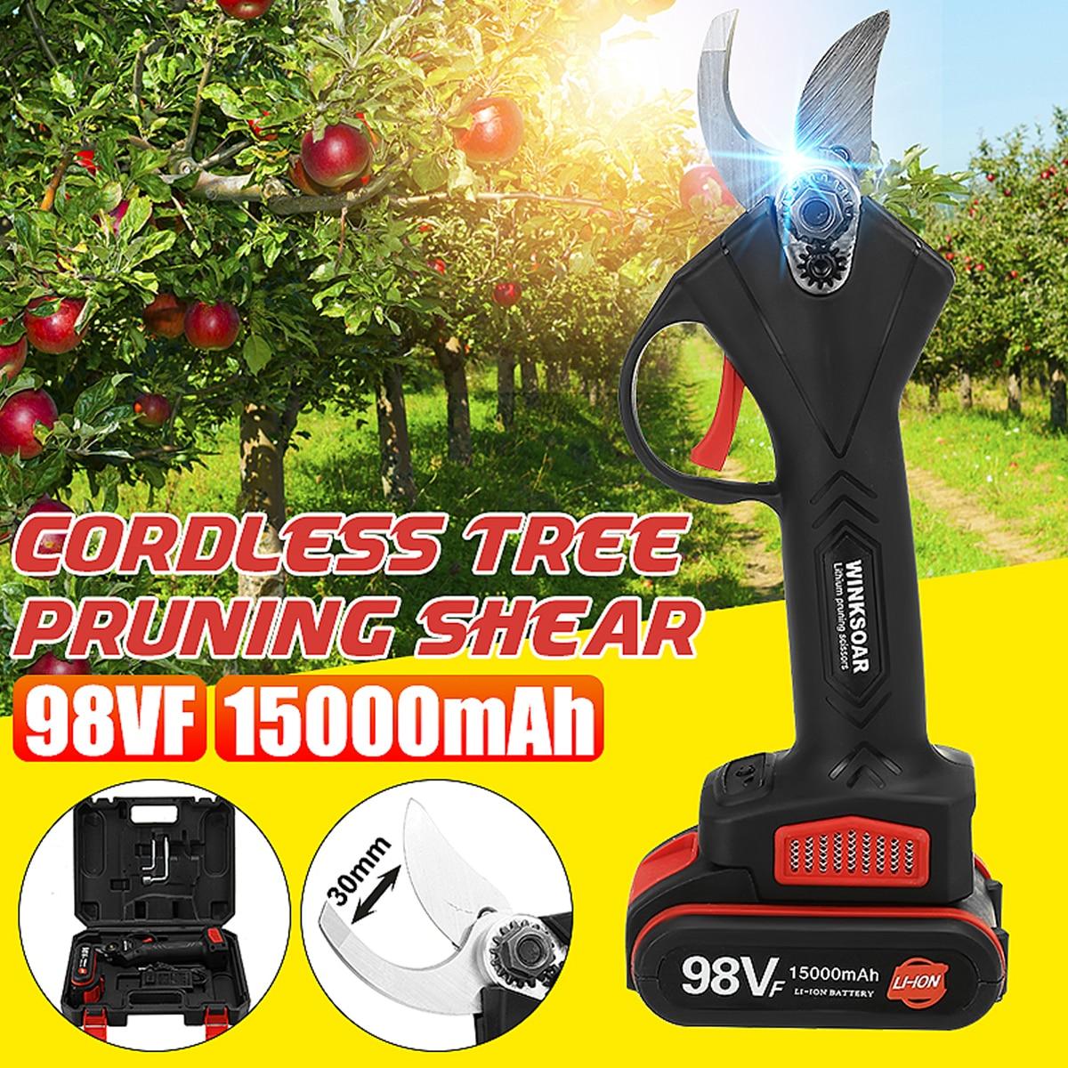 جهاز تقليم لاسلكي 98 فولت 15000 مللي أمبير في الساعة, جهاز تقليم بونساي ، تقليم أشجار الفاكهة ، تقليم كهربي ، تنسيق حدائق
