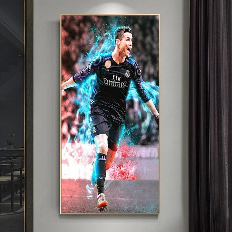 Абстрактная фотография футбола, картины со звездами, картины для современного футбола, настенные картины для декора гостиной картины