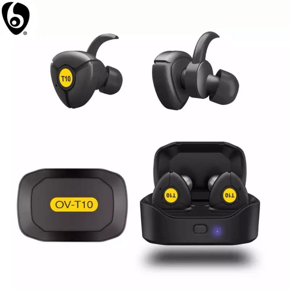 OVLENG T10 True Wireless Earbuds Wireless Bluetooth Earphones with Microphone Handsfree for Smart Devices Mini TWS Earpieces