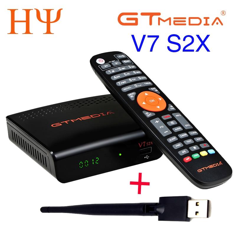 5/10 قطعة GTMEDIA V7 S2X HD + WIFI هوائي DVB-S2 HD يوتيوب PowerVU Newcamd استقبال الأقمار الصناعية تعيين كبار مربع أفضل انمي v7 V7S