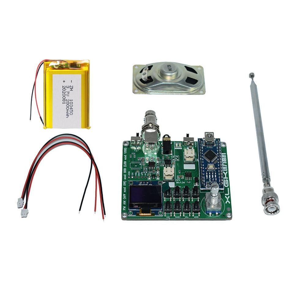 تجميعها لتقوم بها بنفسك عدة SI4732 جميع الفرقة راديو استقبال FM AM (MW و SW) SSB LSB و USB + بطارية ليثيوم 3.6 فولت + هوائي + مكبر صوت