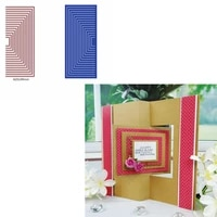 composable half rectangle die cuts for cards making varisized overlapped frame dies scrapbooking metal cutting dies new 2019