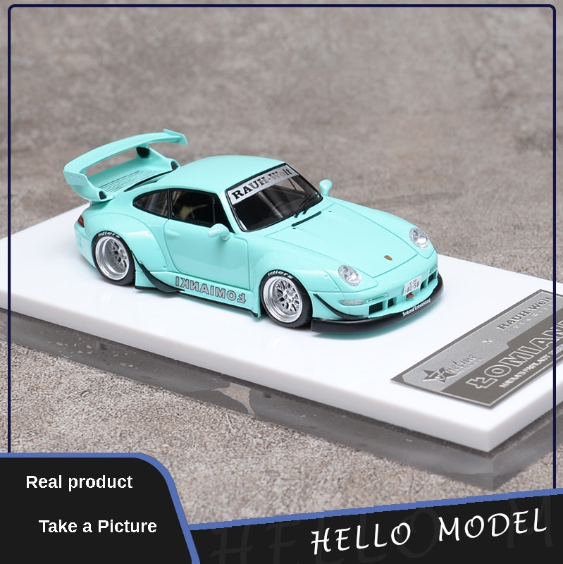1:64 Mint Green Limited Edition Simulation Resin Car Model Christmas Gift