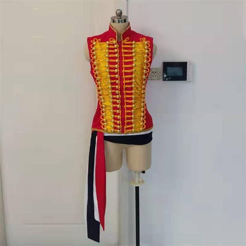 Cosplaydiy Les Miserables Enjolras Cosplay disfraz mujer adulto versión chaleco Sash chaqueta disfraz L320