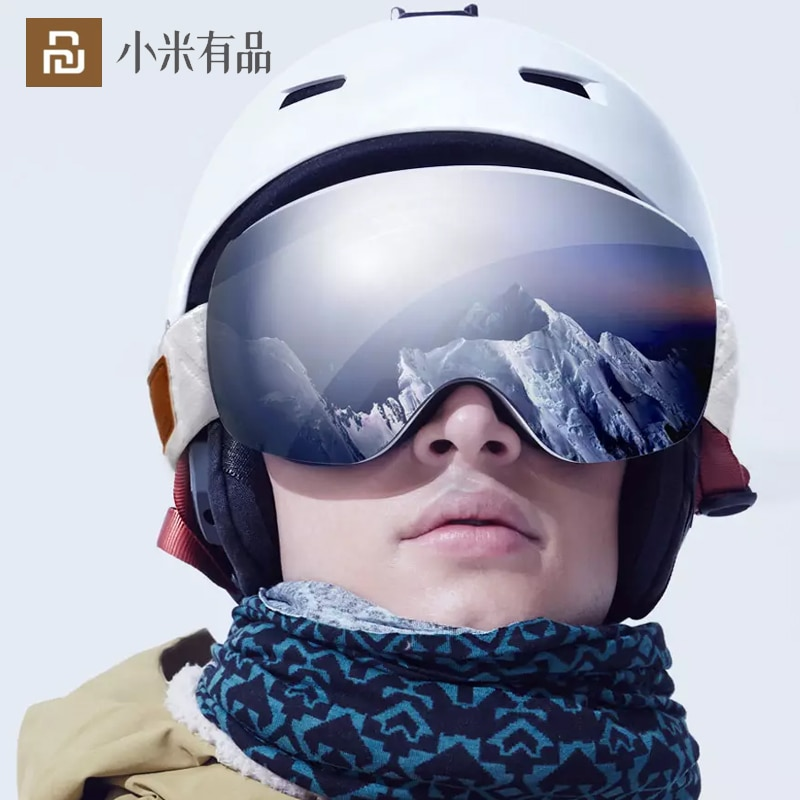 Youpin TS Double Spherical Ski Goggles Glasses Magnetic Men Women HD Vision Anti Ultraviolet Anti Fog Windproof and Shockproof