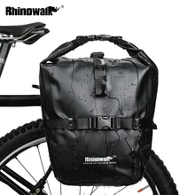 Rhinowalk Bicycle Pannier Bag 20L Bike Front Rear Rack Tail Seat Trunk Pack Waterproof Portable Cycling MTB Bag Bike Accessories