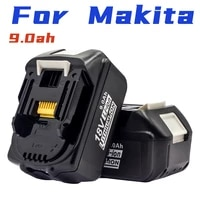 for makita 18v 9 0ah cordless electric tool bl1860 bl1850 bml1840 9 0ah electric drill and saw lithium ion battery with charger