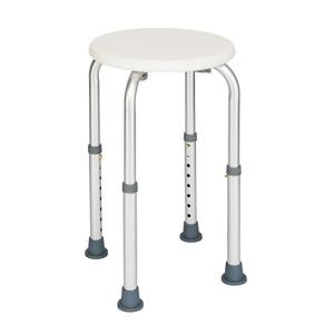 Elderly Round Shower Stool 8 Levels Adjustable Aluminum Alloy Bathtub Stool Seat Seniors Bath Chair