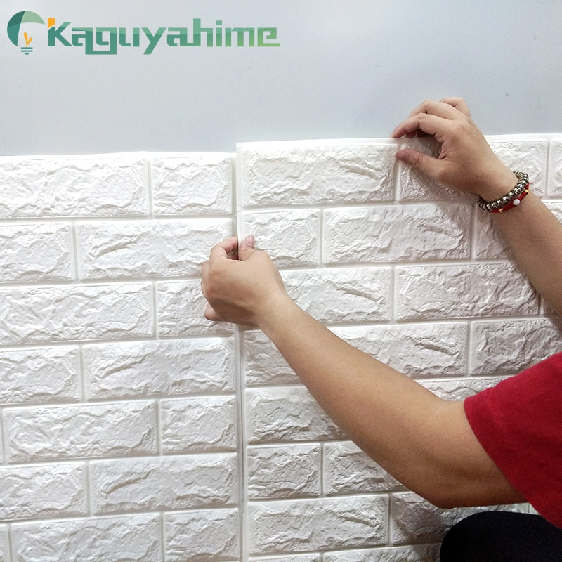 Kaguyahime 3D Wallpaper DIY Marble Sticker Waterproof Stickers Wall Papers Home decor Kids Room 3D Self-Adhesive Wallpaper Brick home decor 3d pvc wood grain wall stickers paper brick wallpaper self adhesive home decor kids room wallpaper brick
