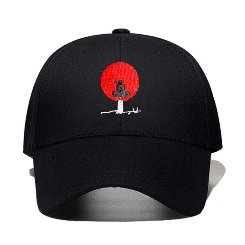 Новые модные Хлопковые бейсболки с аниме вышивкой, бейсболки для мужчин и женщин, черные головные уборы в стиле хип-хоп для папы, Прямая пост...