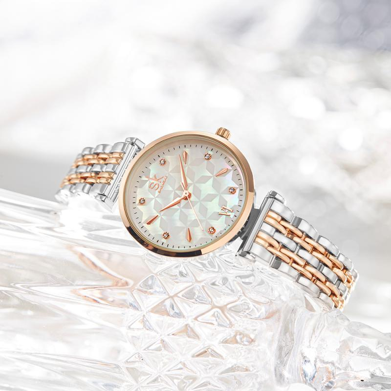 SHENGKE Lady Gift Wrist Watch Women For Quartz Watches Sk Rose Gold Watches Girl Stainless Steel 2020 Hot Sale Japan Movement enlarge