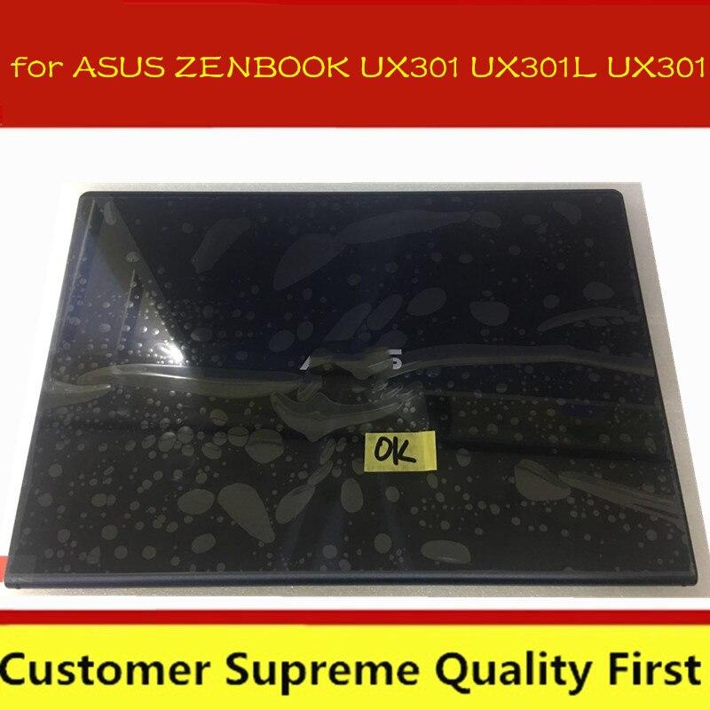 """13.3 """"para asus zenbook ux301 ux301l ux301 display lcd de tela traseira capa dobradiças digitador da tela toque assembléia completa"""