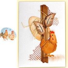 Pochoirs de découpe en métal   Coq poule animaux, matrices de découpe en métal, pochoir pour Scrapbooking, gaufrage en papier pour bricolage, modèles artisanaux faits main