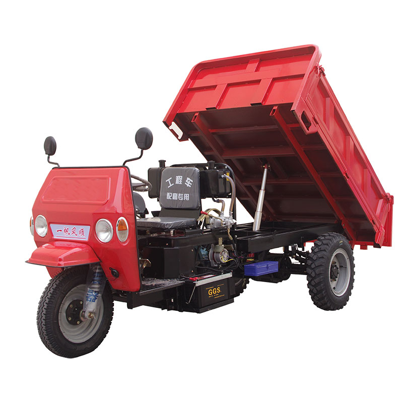 7-speed 18HP U-shaped engineering agricultural vehicle tricycle diesel tractor dump truck climbing mountain loader